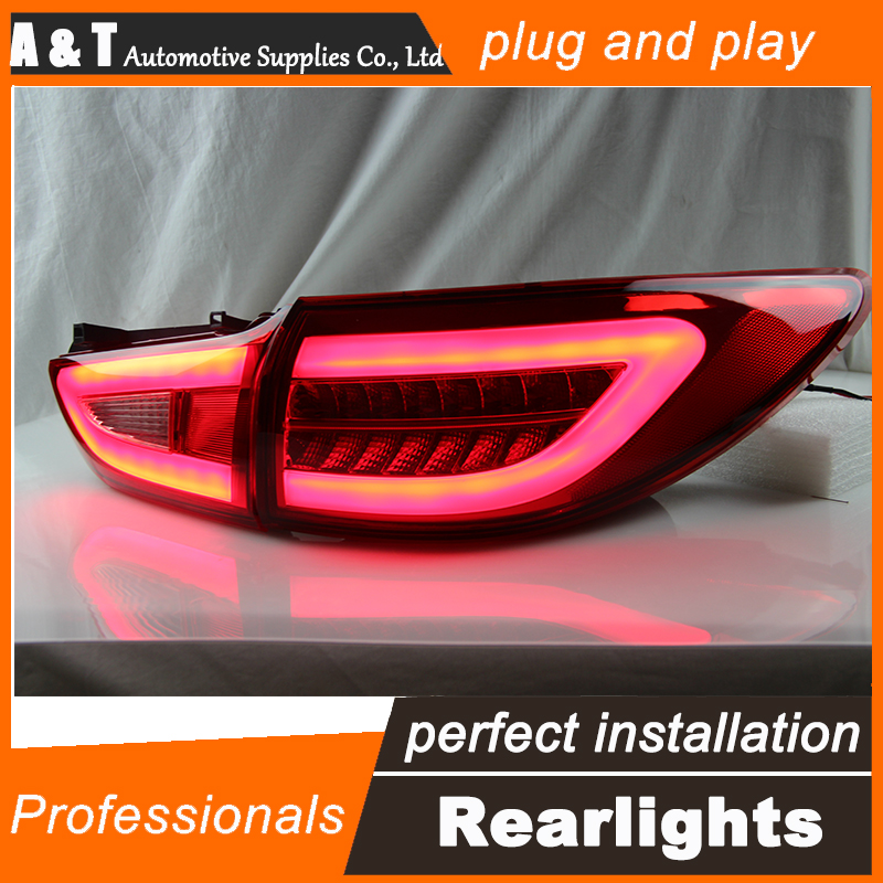 Car Styling for Mazda6 Taillights 2014 2015 New Mazda 6 LED Tail Lamp LED Rear Lamp DRL+Brake+Park+Signal led lights