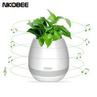 NKOBEE Led Bluetooth Speaker Smart Speaker Bluetooth Flowerpot Smart Touch Sensor Music Plant Led Light For