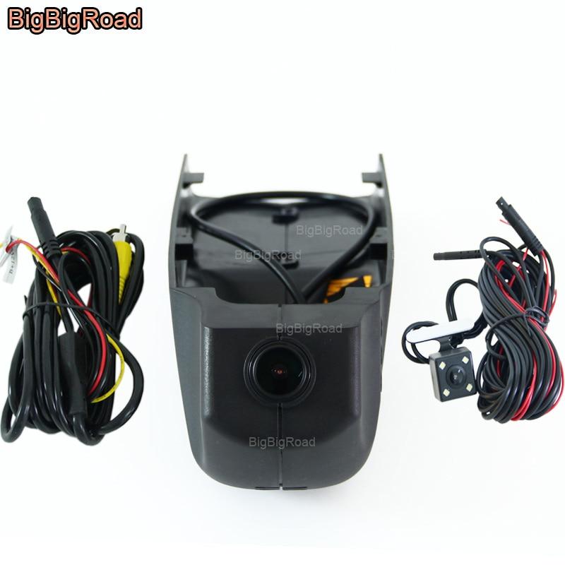 BigBigRoad For BMW X1 X4 X5 X6 X7 X3 e83 f25 X4 f26 GT f34 f07 Car wifi DVR Video Recorder black box Dual Cameras Dash Cam bigbigroad for bmw x1 f48 2016 x3 f25 f10 f30 f36 x5 f15 car wifi dvr video recorder novatek 96655 black box dash cam camera