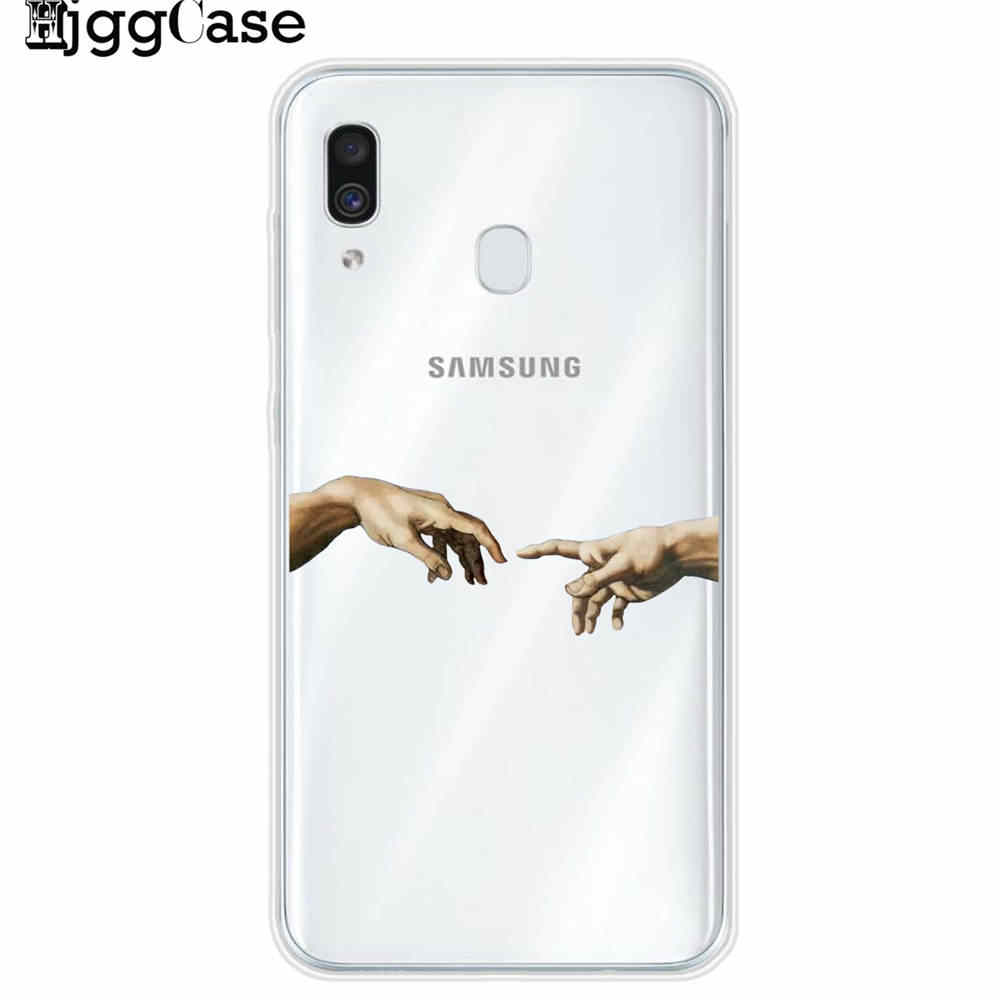 דוד אלטרנטיבי פסל אמנות מקרה טלפון עבור Samsung Galaxy J4 J6 A6 A8 בתוספת A7 A9 2018 A10 A30 A40 a50 A60 A70 A80 2019 כיסוי