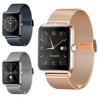 Smart Watch Support SIM TF Card Camera Pedometer Men Steel straps Wristwatch for Android IOS iphone
