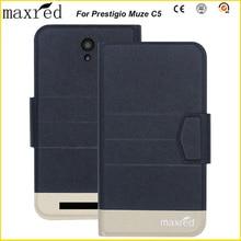 5 Colors Original! Prestigio Muze C5 Case High Quality Flip Ultra-thin Luxury Leather Protective Case For Prestigio Muze C5 чехол neffos c5 max protective case