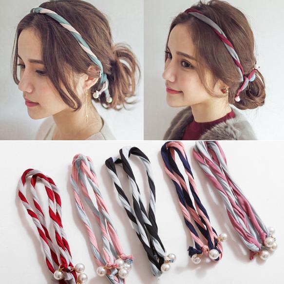 Korean Style Hair Headband Metal Wire Headband Women Girls Hair Accessories  Set Twisted Double Headband Pearl Hair Headband Knot-in Women s Hair  Accessories ... ac000bab4c3