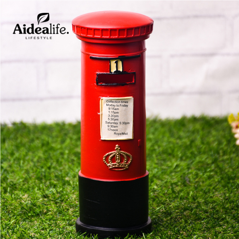 mailbox resin home decoration accessories miniature fairy figurines chinese souvenirs office gadgets american country decor