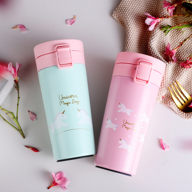 Lovely Unicorn Printed Eco-Friendly Stainless Steel Thermal Mug