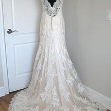 BRITNRY Champagne Mermaid Wedding Dresses Lace V Neck