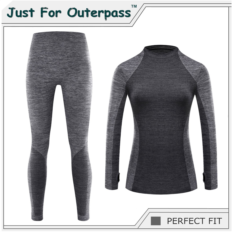 Long Johns Set Warm Thermal Winter Clothe Casual Pants Ladies Wear Women Fashion