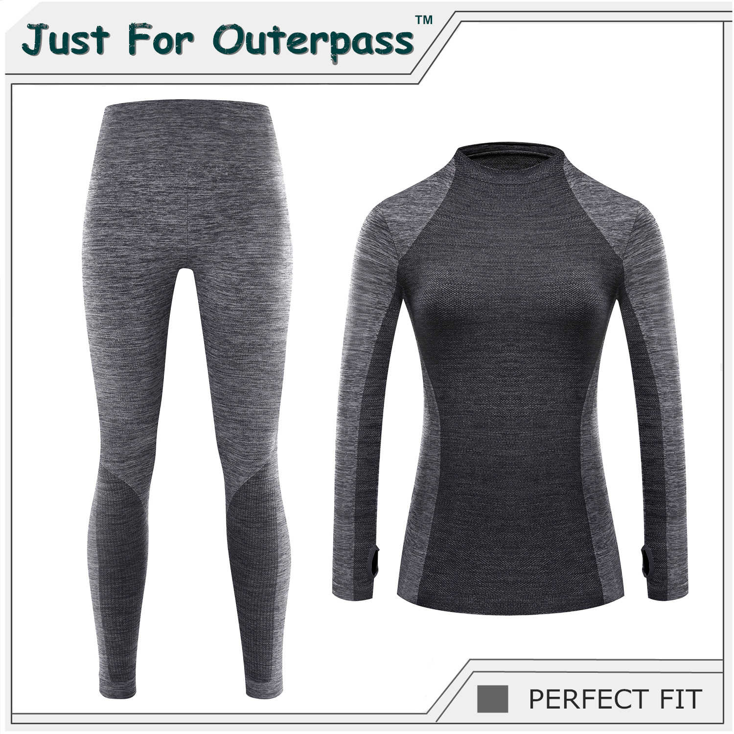 Just For Outerpass Brand 2019 New Winter Thermal Underwear Women Elastic Breathable Female HI-Q Casual Warm Long Johns Set