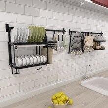 Черный кухонный стеллаж для хранения из нержавеющей стали, настенная кухонная полка для ножей, разделочная доска, стеллажи для посуды, сделай сам, кухонный держатель, Органайзер