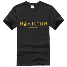 Fashion Mens T-shirts Hamilton the Musical Title Short Sleeves T-shirt XXXL Black Mens Short Sleeves Tee tops