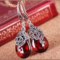 Ms. Betti 2018 Rocznika Markasyt kolczyki z kamienia naturalnego 925 Thai biżuteria srebrna dla kobiet musi mieć brides biżuteria prezenty Bijoux