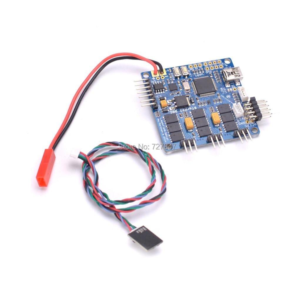 Storm32 BGC (VERSÃO MOSFET) 3-Aixs STM32 Placa Controladora Brushless Cardan com Duplo Giroscópio
