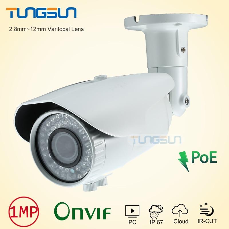 ФОТО New Zoom Varifocal IP Camera 2.8~12mm Lens 720P 960P Network POE Onvif White Bullet Waterproof 42 IR Security Camera ip