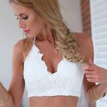 Sexy Lingerie Lace Halter Straps Underwear Elastic Cross Sling Summer Shirt Vest Women  A097