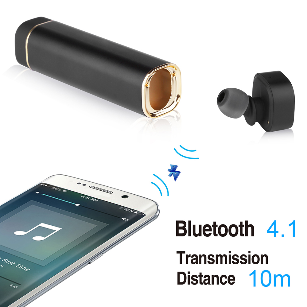 Mini Wireless K1 In-ear Earphone Portable Power Bank Bluetooth Headset Stereo Mp3 Music Earbuds with Microphone for Smart Phone