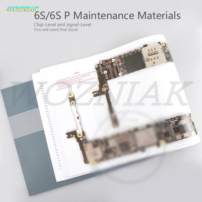Wozniak Color teaching books for iphone 6S Plus 6SP Maintenance Materials5 teach of fix Professional maintenance