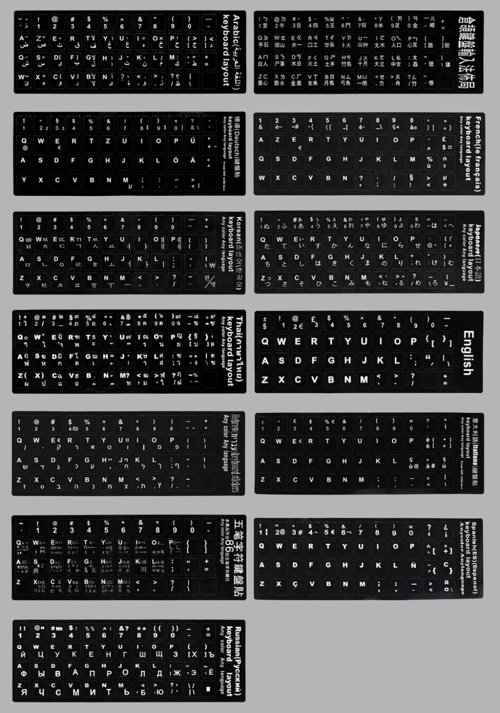 keyboard sticker of laptops
