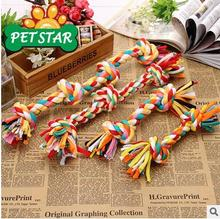 Pet Toys Multicolor Cotton Rope Knot Pet Toys Molar Dog Tooth Cleaning Toys S-XL