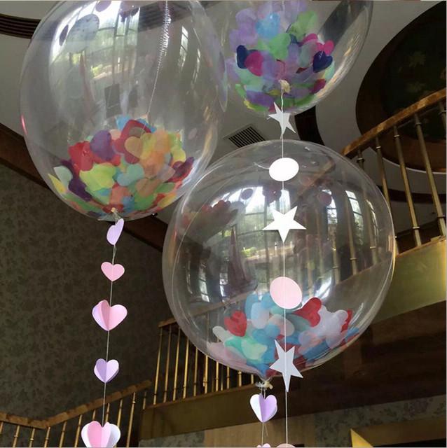 5 Pcs Transparent Ballons