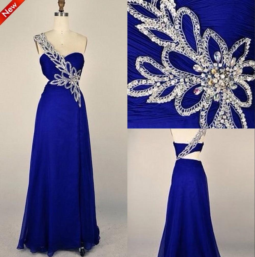 Lujo Vestido De La Dama Azul Eléctrico Cresta - Vestido de Novia ...
