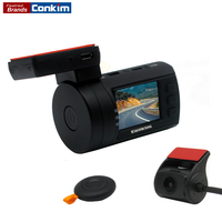 New Mini 0906 Dual Lens Car Dash Camera GPS DVR Front 1080P FHD Rear Camera 1080P