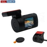 Conkim DVR Met 2 Camera Novatek 96663 Auto Videorecorder Front 1080 P Full HD Achter Dash Cam GPS Parking Dual Lens Griffier