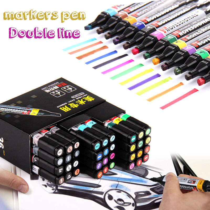 mark pen 12 colors POP posters markers  for tissue double-end colours sharpie  markers for drawing manga art supplies kitsan33074unv92009 value kit sharpie super permanent markers san33074 and universal economy scissors unv92009