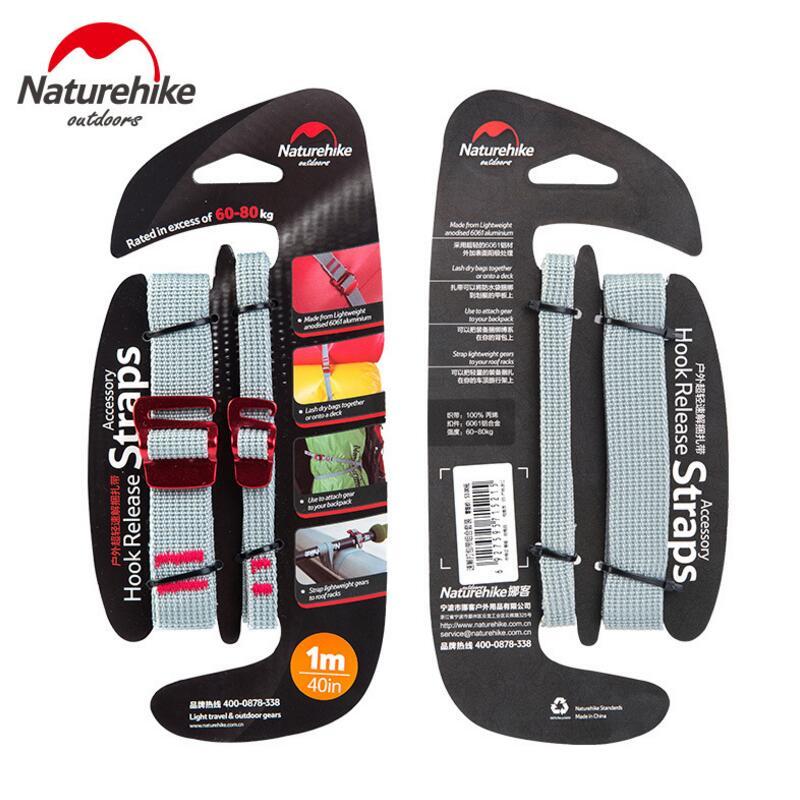 NatureHike Multifunction Baggage Belt Hooks Clip Handsfree Backpack Tents Accessoires Luggage Belt Straps Buckles NH15K001-B