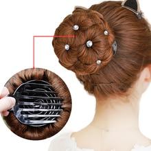 AOSIWIG Hair Women Donut Chignon Bun Clip In Hairpiece Extensions Synthetic High Temperature Fiber
