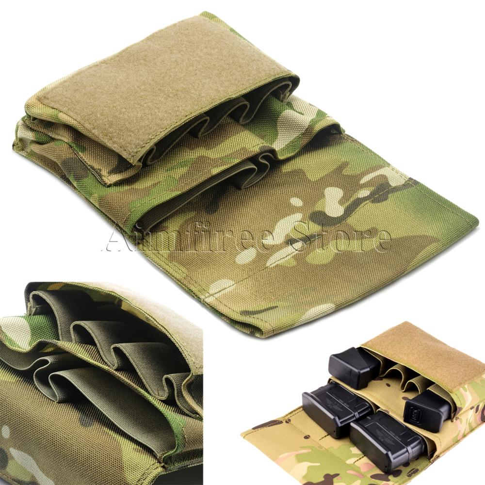 Tactical Pistol Thigh Magazine Pouch Mag Tool Bag With Molle belt Free Shipping