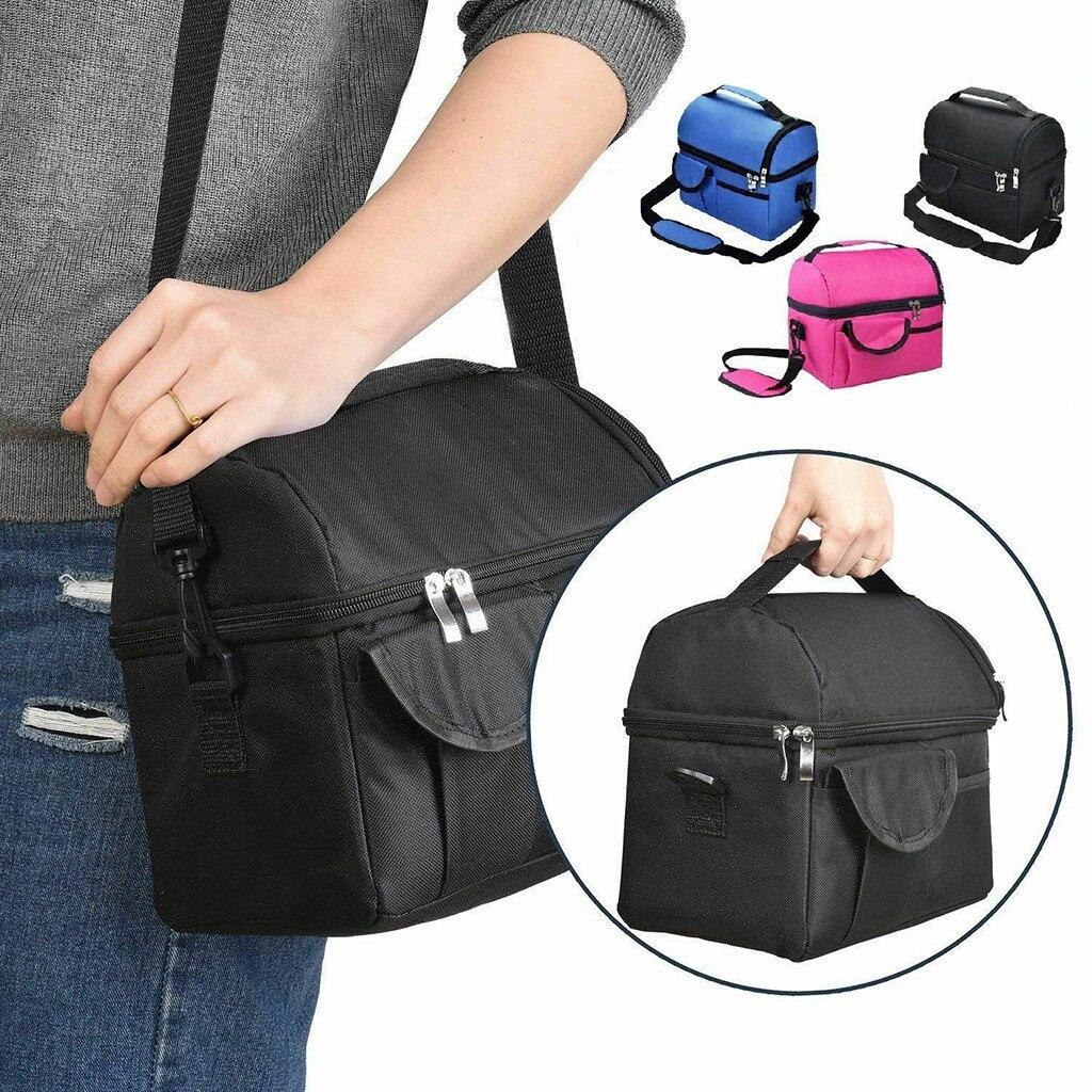 Large Ice Pack Double Insulated Bag Geisoleerde Lunchbox Draagtas Reizen Mannen Vrouwen Volwassen Hot Koud Voedsel Thermische *