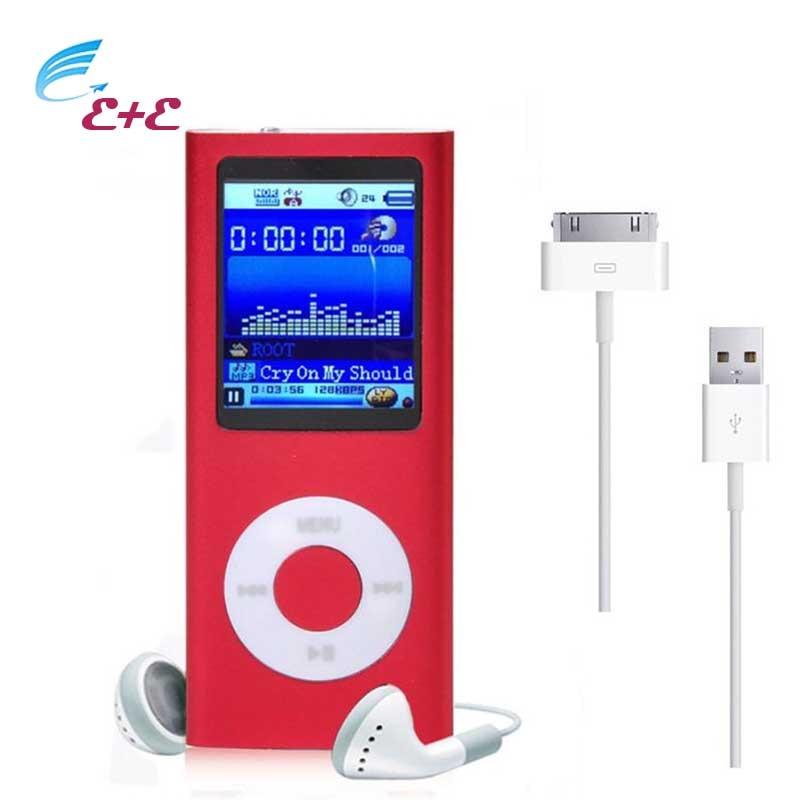8GB MP3 MP4 Player Hot Sale 1 8 TFT LCD screen Slim Digital LCD Screen FM