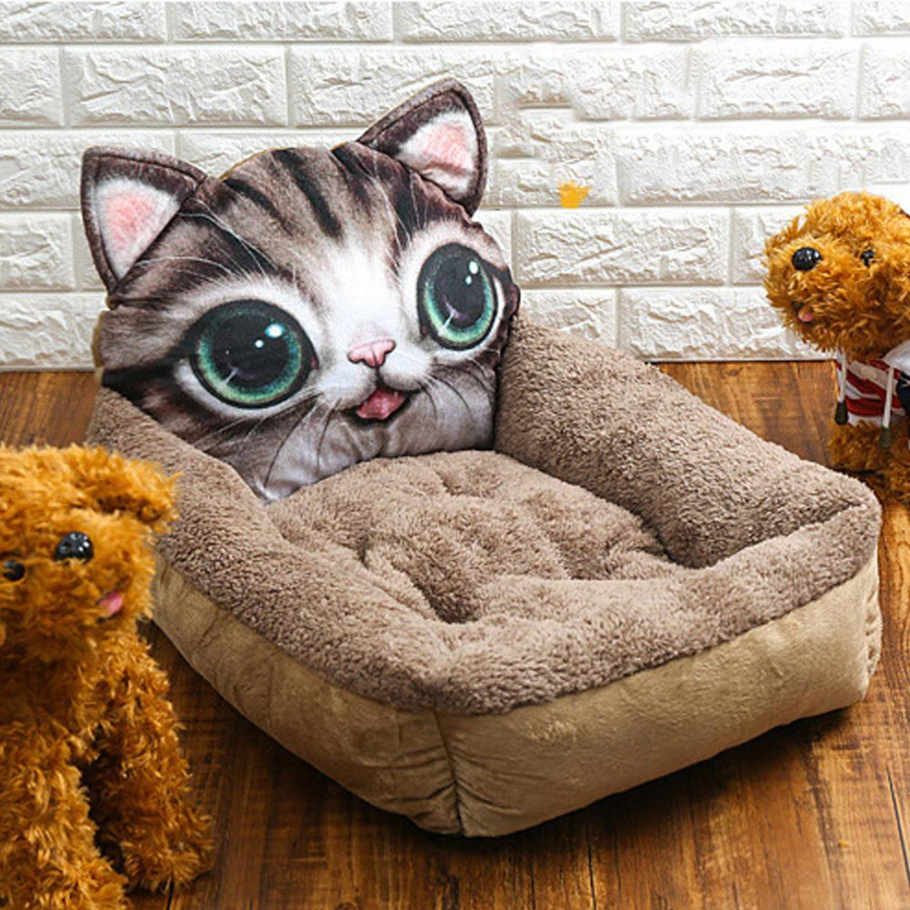 1Pc Cat Panda Head Square 3D Pet Nest Winter Pet Puppy Dog Warm Sleeping Cushion Nest 1Pc Cat Panda Head Square 3D Pet Nest Winter Pet Puppy Dog Warm Sleeping Cushion Nest