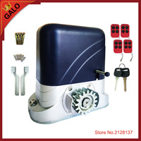 home door gate motor 2ps remote control and switch automatic lathe sliding gate opener can stand by solar system 600kg 1800kg
