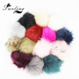 Image 2 - Furling 12pcs DIY Fluffy Faux Fur 11cm Pom Pom Ball with Press Button for Baby Girl Pom Beanie Hat Decoration Accessories