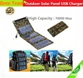 5V 7W Portable Folding Solar Panel Source Power Mobile USB Charger Solar Charger for Cell phones GPS Digital Camera PDA Hot