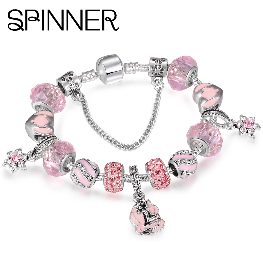 Beads & Jewelry Making Good Spinner Bear Crystal Charm Beads Fit Pandora Charm Bracelet For Women Diy Jewelry Accessories Gift Online Discount Jewelry & Accessories