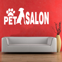 Pet Salon Wall Sticker Grooming Shop Room Decoration Vinyl Art Removable Poster Mural Beauty Fashion Decals W256