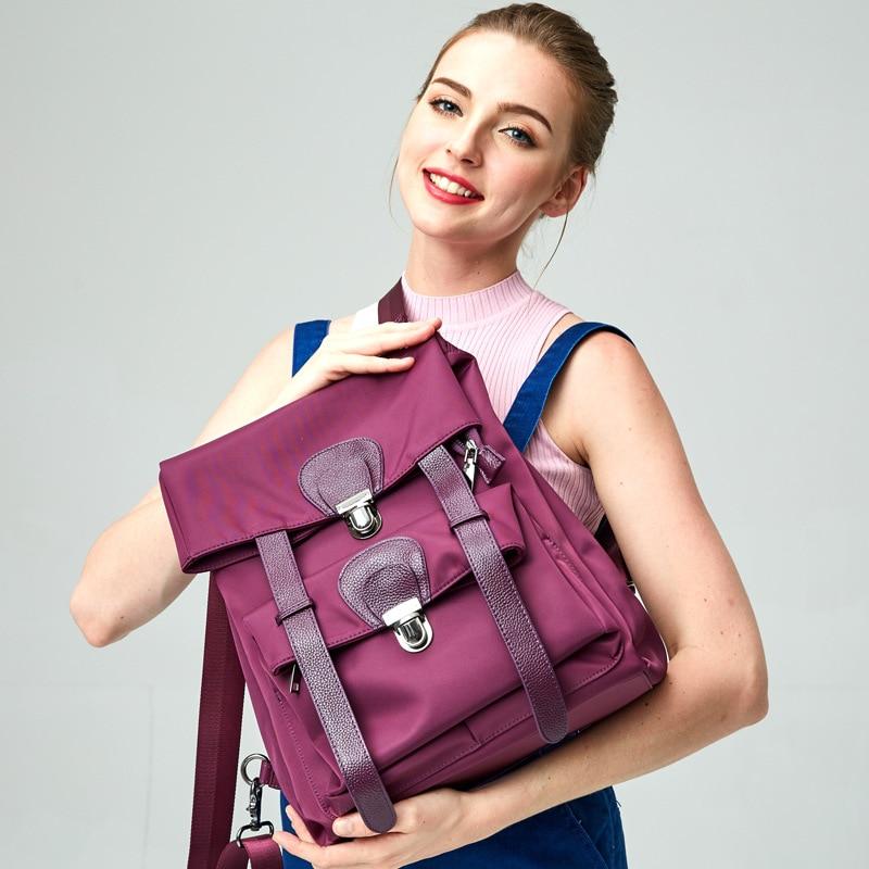 Cuir Filles Designer Haute À Coréenne Qualité En Oxford École Dos Femmes Casual Sac Mode Black purple Classique Adolescente Étanche E4fZwxq1nH