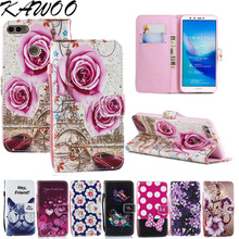 Retro Patterns PU Folio Leather Case Magnetic Flip Cover For Huawei Y9 2018 Capa Card Slots Stand Fundas For Huawei Enjoy 8 Plus