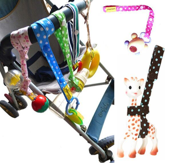 5pc/ lot New arriving Hot 100% Cotton Brand new baby stroller toys anti-lost strap baby stroller rope accessories free shipping