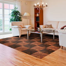 Retro simulation wooden wardrobe sticker Bedroom living room wall PVC self-adhesive waterproof floor