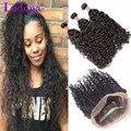 360 Кружева Фронтальной С Bundle Бразильский Волна Воды 360 Фронтальная С Связки Вьющиеся Плетение Волос Бразильские Волосы Девственницы С Закрытием