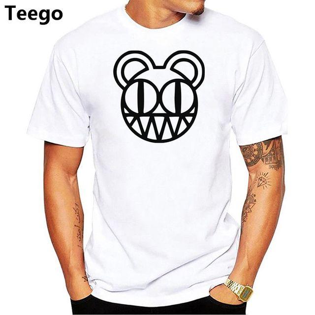 107912f637b0 Radiohead T Shirt Summer Style Short Sleeve Cotton Cool Punk Alternative  Rock Men T Shirts Radiohead Logo Boy Man T-shirt