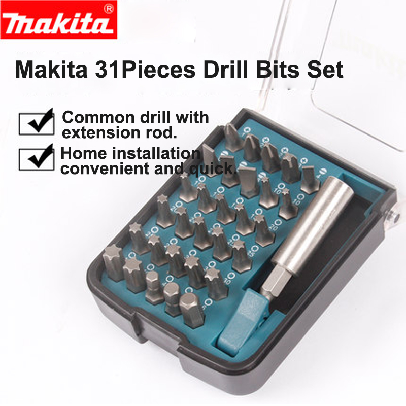 цена на Japan Makita Drill Bit Set Hexagon Drill Phillips Head Screwdriver 18/28/31 piece suits For Electric Drill and Screwdriver