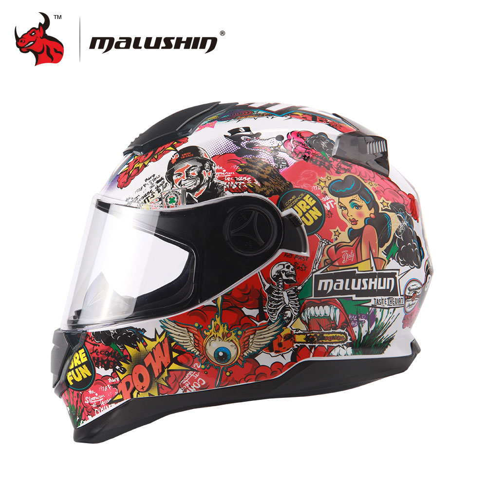 MALUSHUN Capacete De Moto Mens Women Racing Moto Helmets Motorcycle Full Face Riding Helmet Motorbike Flip