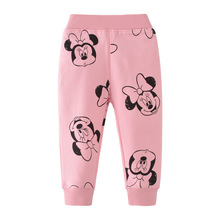 Baby Girls Pants Cartoon Full Length Trousers Mouse Printed New Fashion Kids Winter Clothes Cotton Sweatpants for