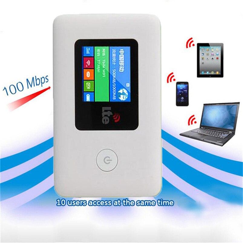 4 4G LTE モバイルホットスポット無線ブロードバンドミニ Mifi 解除 4 グラム 3 グラムモデムポータブル無線 Lan ルータリピータドングル  グループ上の パソコン & オフィス からの モデムとルータのセット の中 1