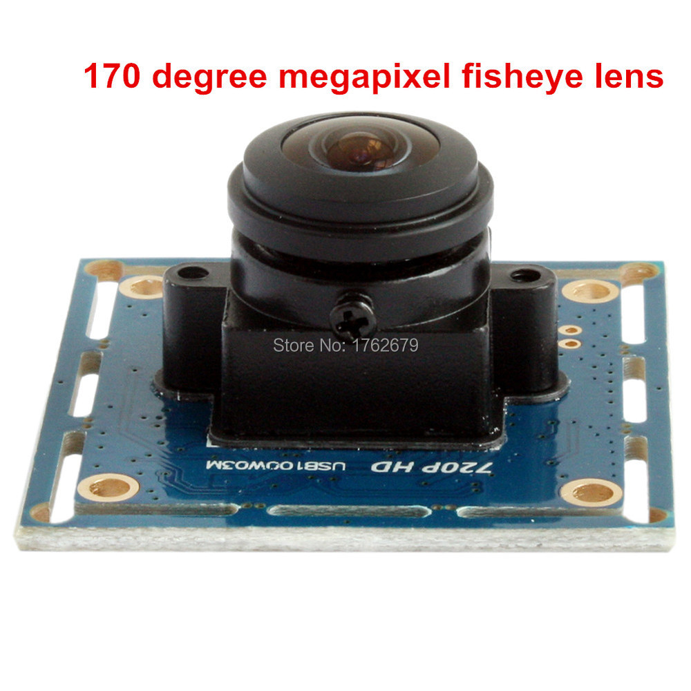 720P Wide Angle 170 Degree Fisheye Lens Mjpeg High Resolution 1280X720 OV9712 Micro video conference usb Camera board module все цены