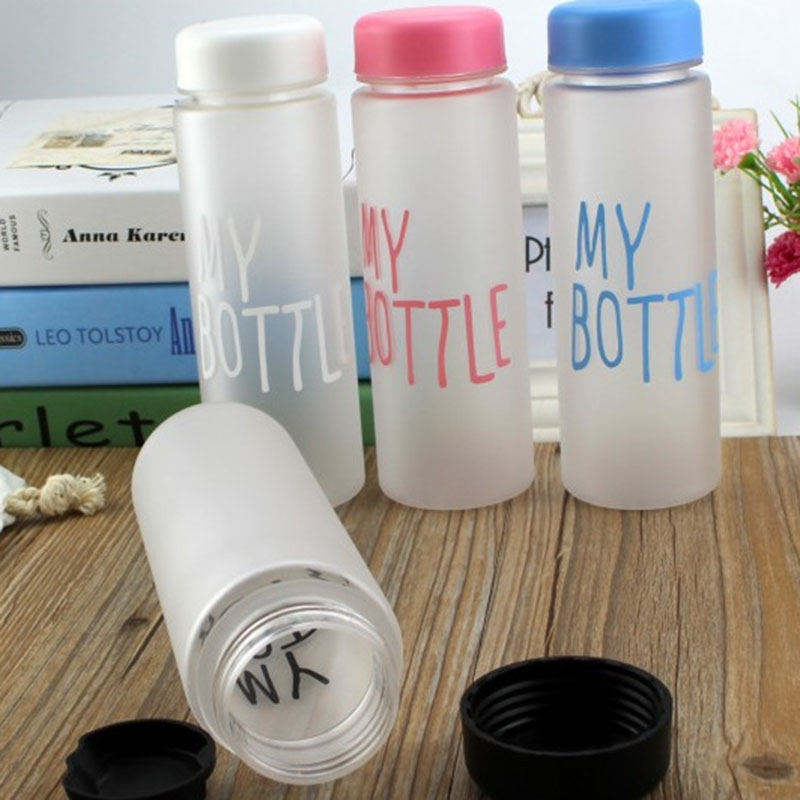 Hot 500mL Water Bottles Plastic Frosted Leak-proof Portable Water Bottle for Outdoor Sport Running Camping C27